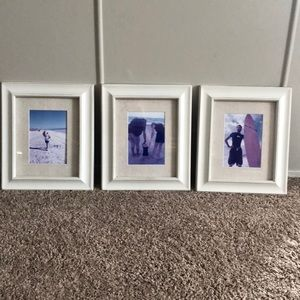 Other - Three 5x7 pic frame set